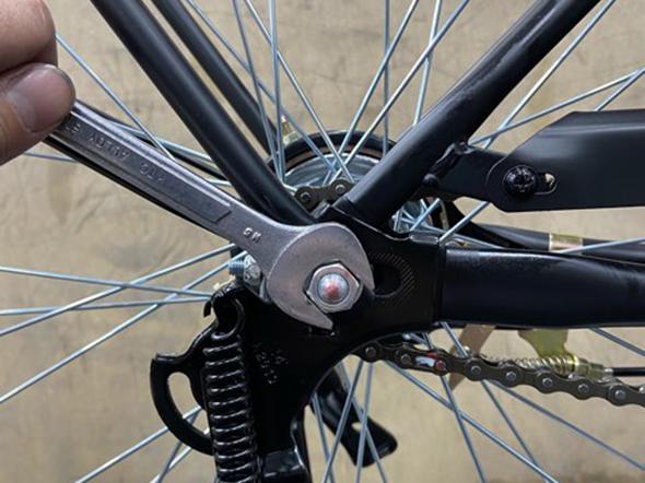 自転車のチェーンの調整