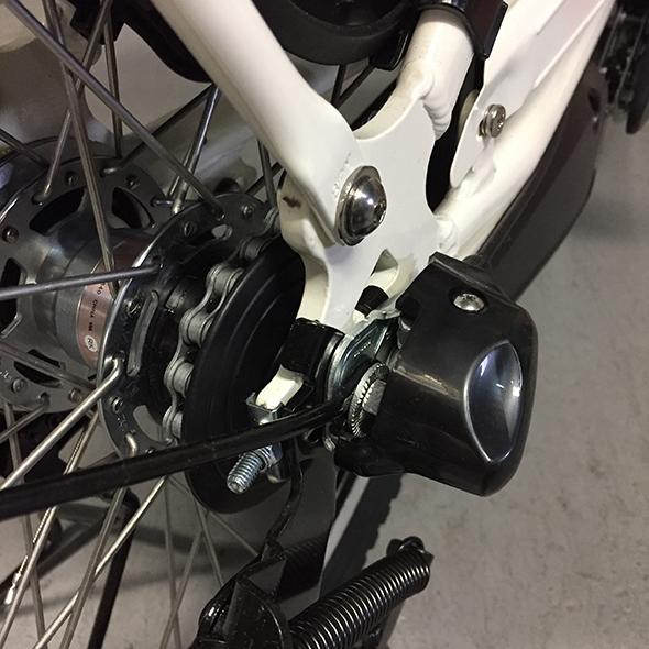 自転車のチェーン調整:シティ、ママチャリ内装変速有り