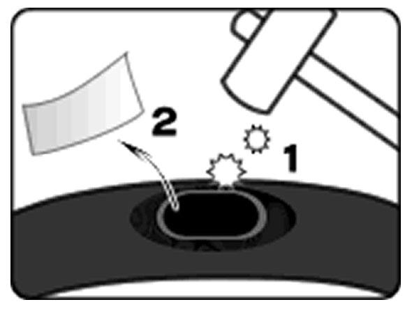 自転車のパンク修理方法②:パンク穴をふさぐ 5.パッチを圧着させる
