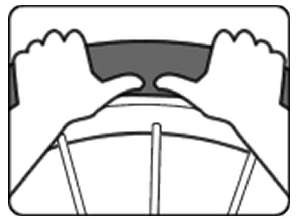 自転車のパンク修理方法③:チューブを戻す 3.タイヤのビート部をリムに入れる