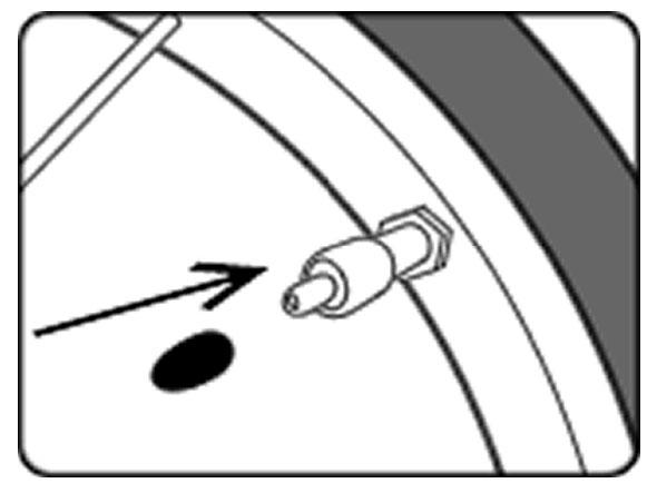 自転車のパンク修理方法③:チューブを戻す 4.チューブに空気を入れる